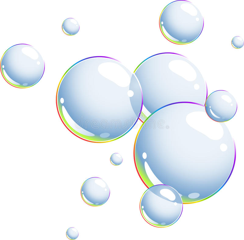 bubblor stock illustrationer