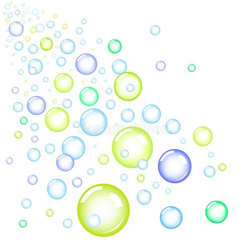 bubblor royaltyfri illustrationer