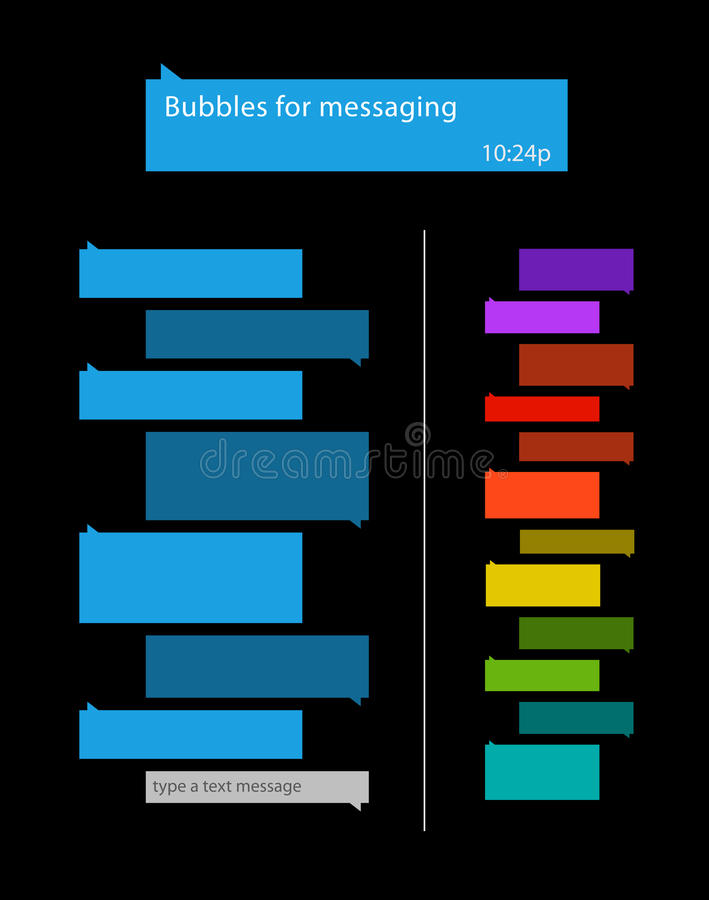 Bubblor för messaging royaltyfri illustrationer