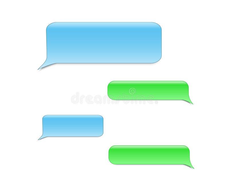 Bubblor för vektortelefonpratstund royaltyfri illustrationer