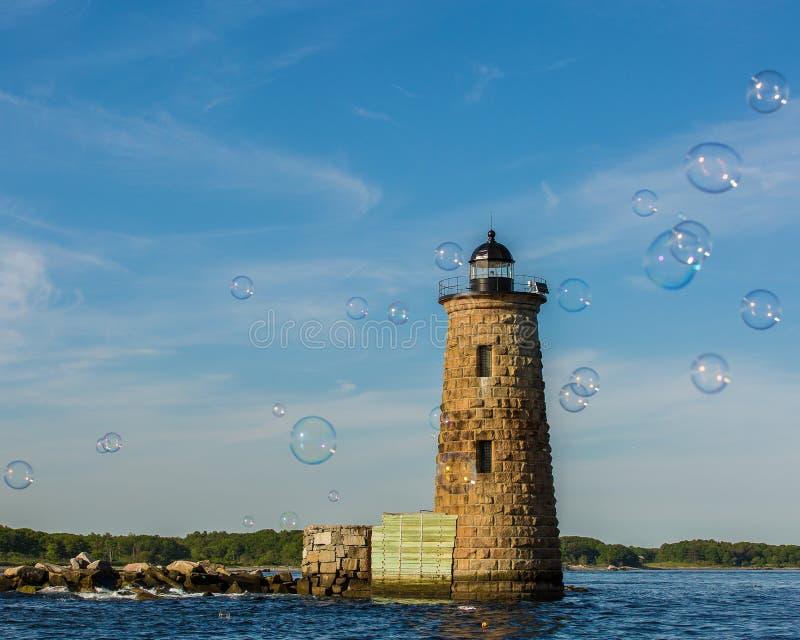 Bubblor på Whaleback ljus royaltyfri bild