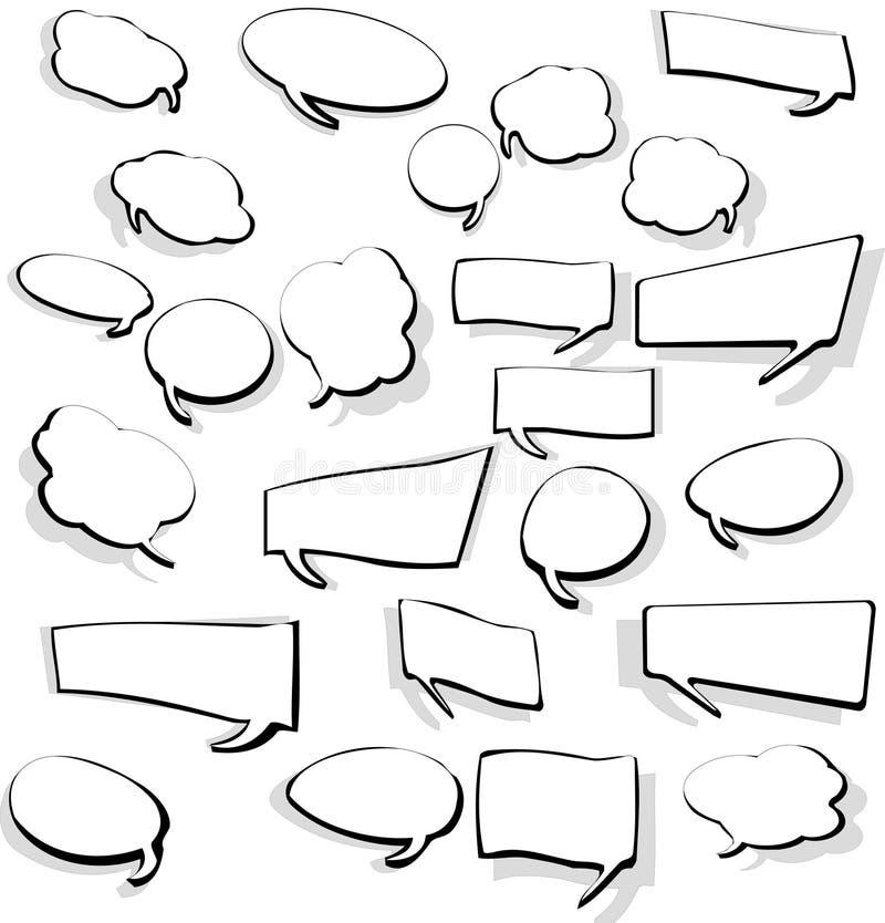 bubblor ställde in anförande vektor illustrationer