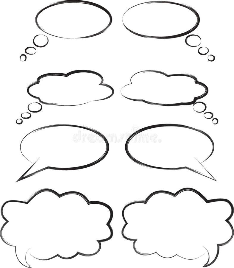 bubblor talar royaltyfri illustrationer
