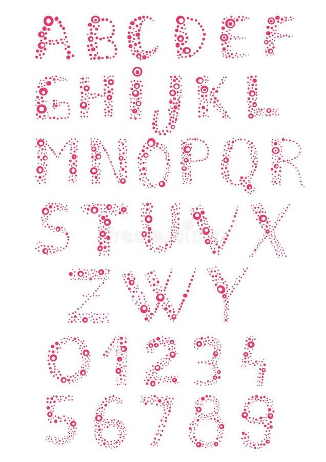 Bubbly alphabet royalty free illustration