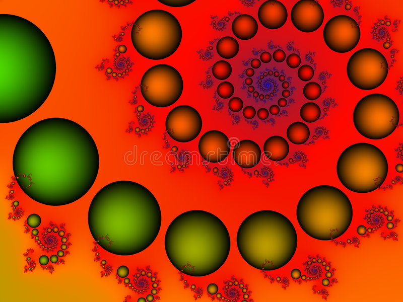 Download Bubbly fractal stock illustration. Image of green, illusion - 1409343