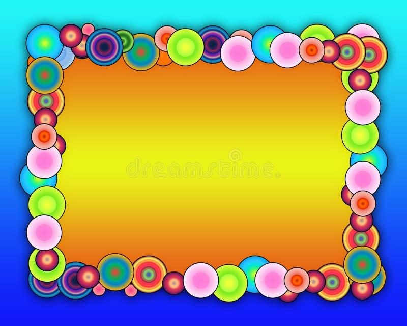 Bubbly Frame royalty free illustration