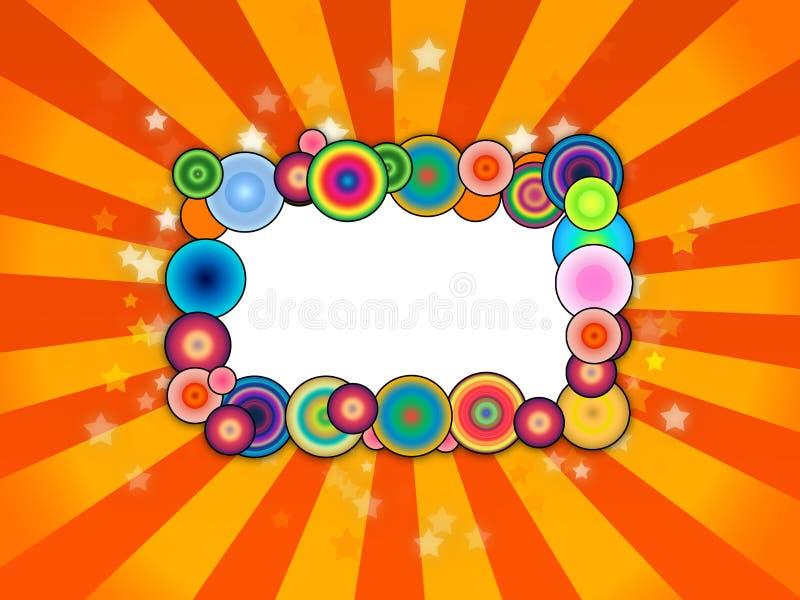 Bubbly Frame on Orange Background vector illustration