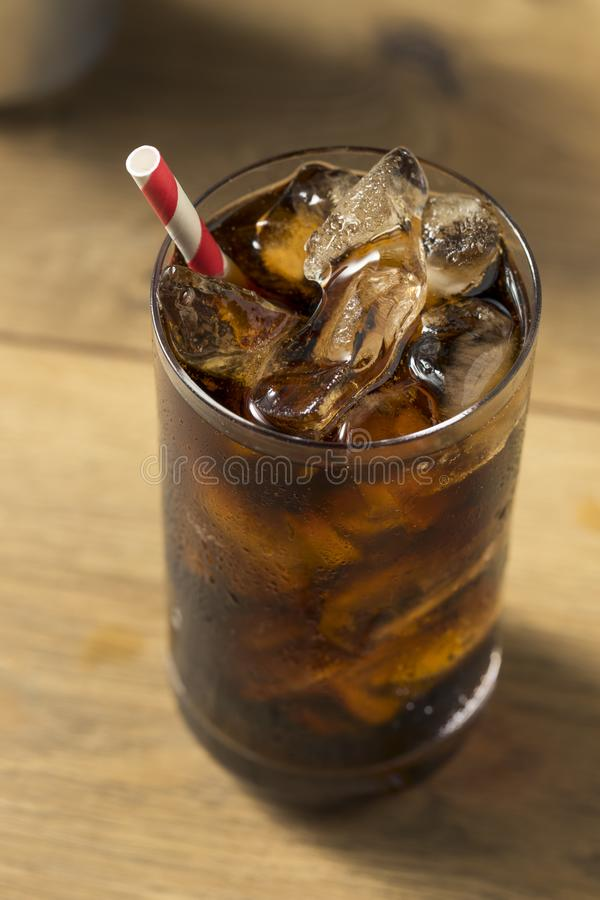 Bubbly Refreshing Dark Soda stock image