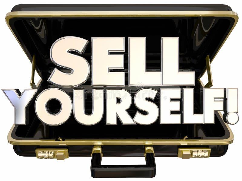 Bubla Yourself teczki jaźni promoci sukces royalty ilustracja