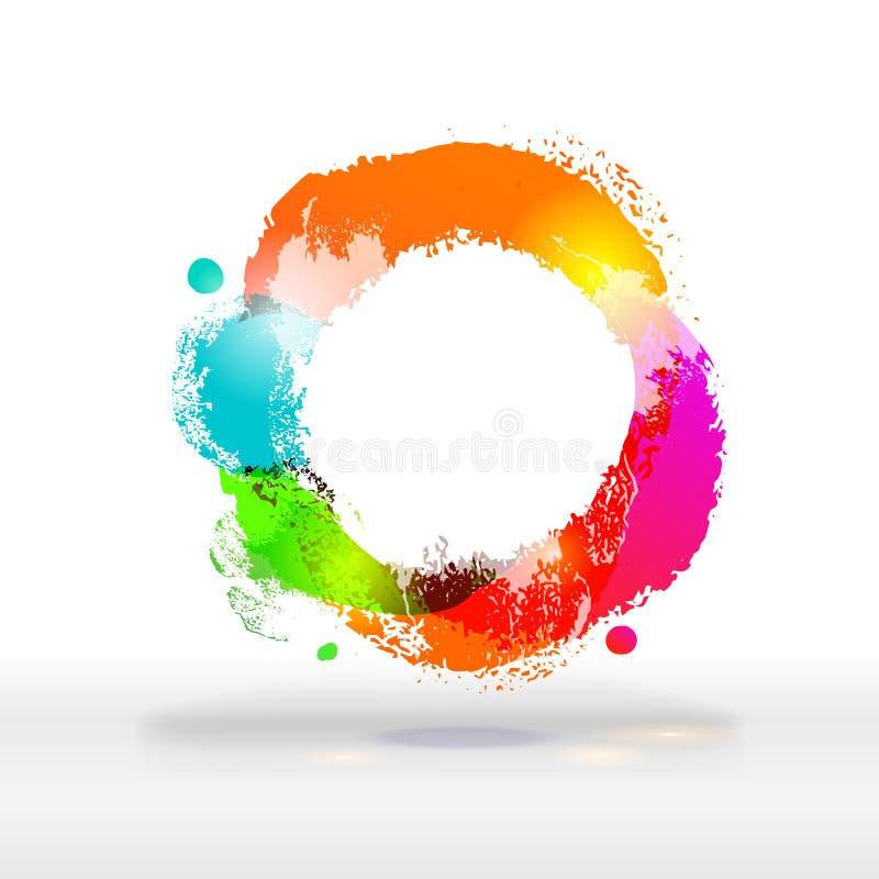 Buble colorido brilhante festivo moderno ilustração stock