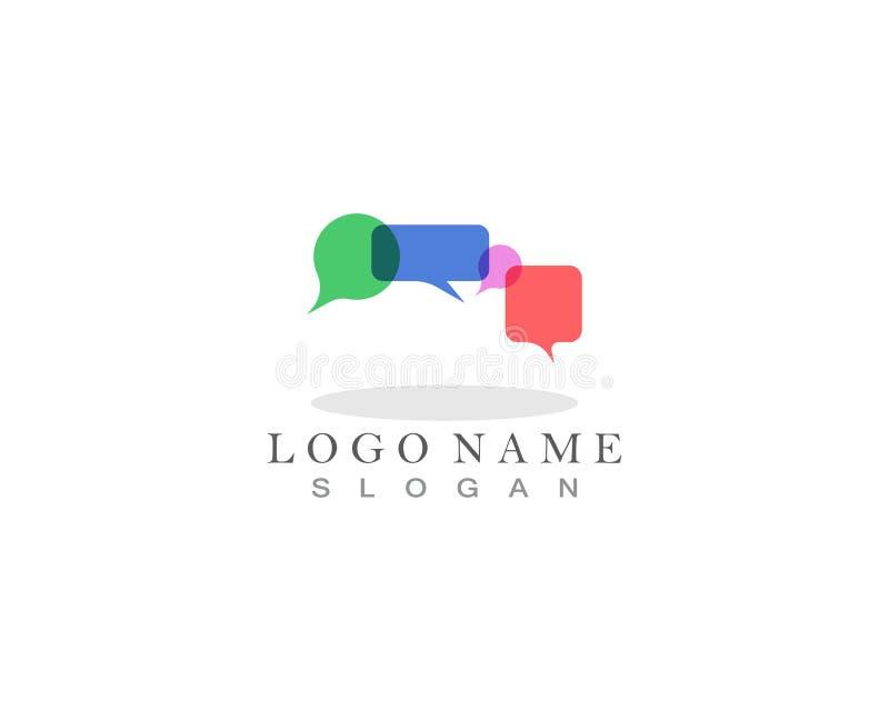 Buble-Schwätzchen-Logo und Symbolschablone stockbilder