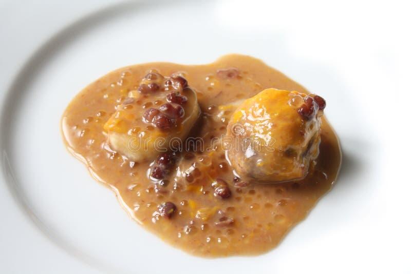 Bubur Kacang Merah- red bean porridge royalty free stock images