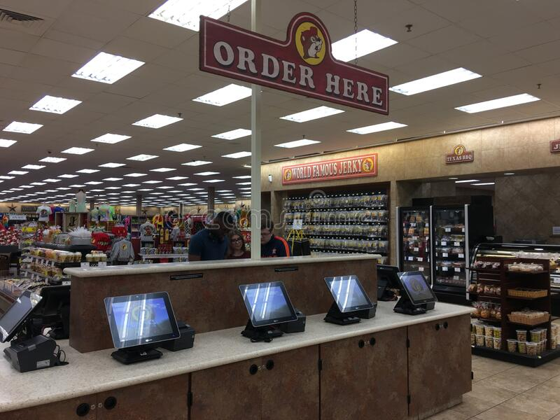 Buc-ee`s Food Ordering Station in Texas royalty free stock photos