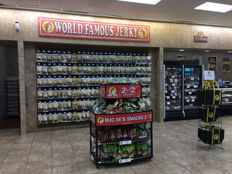 Buc-ee`s World Famous Jerky royalty free stock image