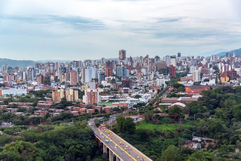Bucaramanga, paysage urbain de Santander image libre de droits
