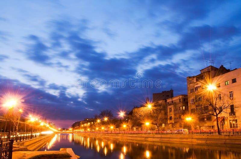 Bucarest au coucher du soleil photographie stock