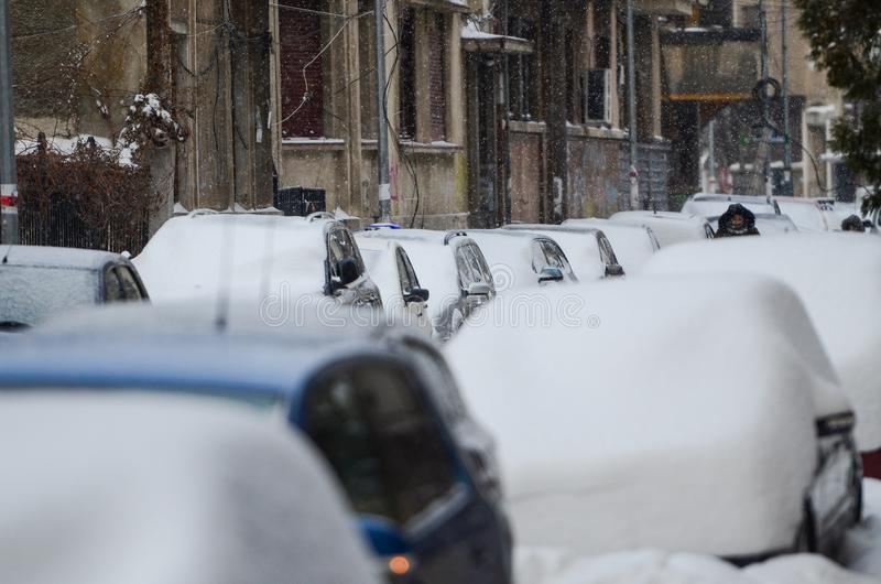 Bucarest en hiver images stock
