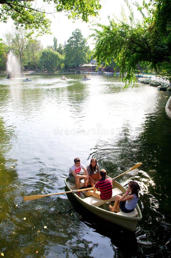 Bucarest - lac Cismigiu photos libres de droits