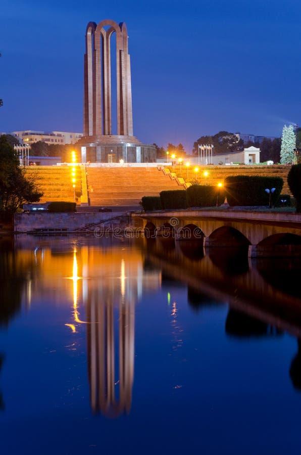 Bucarest - parque del villancico fotografía de archivo