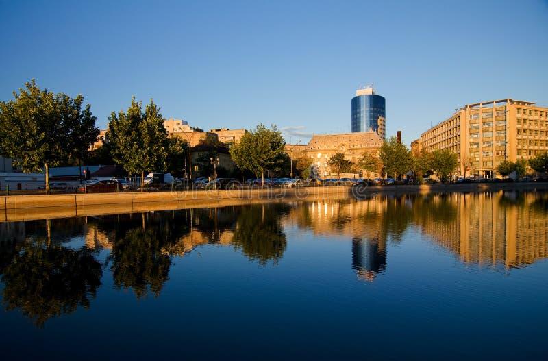Bucarest - rivière de Dambovita image libre de droits