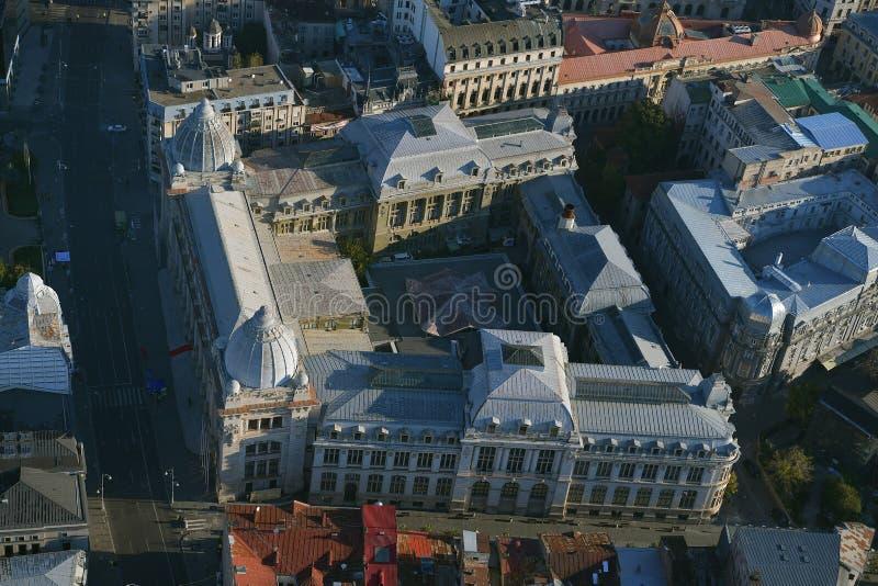 Bucarest, Romania, il 9 ottobre 2016: Vista aerea del museo nazionale di storia fotografie stock