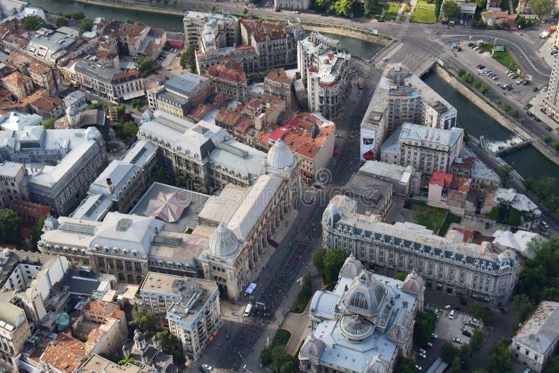 Bucarest, Roumanie, le 15 mai 2016 : Vue aérienne de Musée National de l'histoire roumaine photo stock