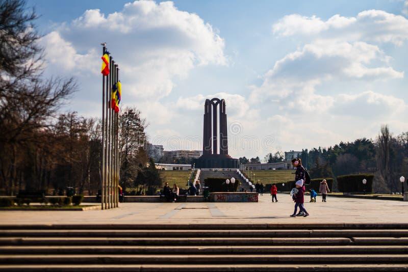 Bucarest, Roumanie - 2019 Le mausolée de soldat inconnu situé dans Carol Park photos libres de droits