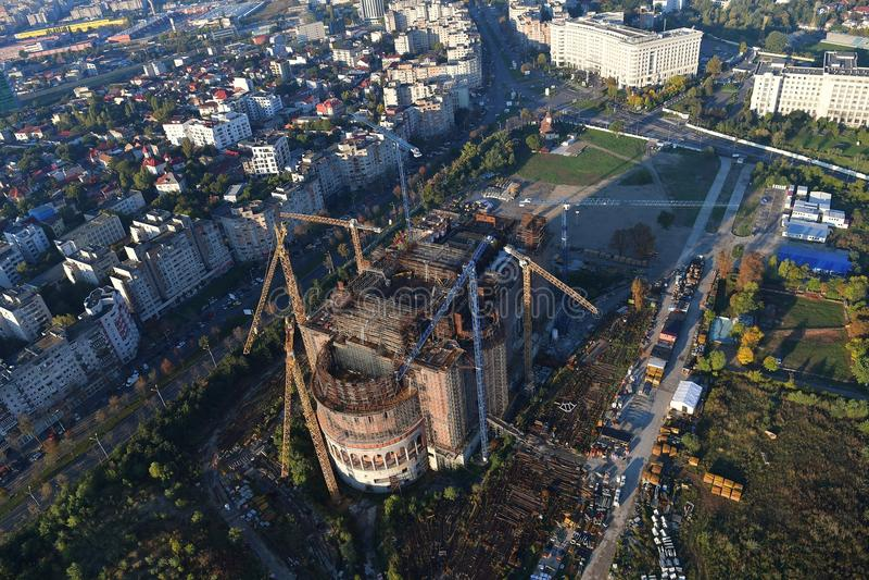 Bucarest, Roumanie, le 9 octobre 2016 : Le bâtiment de la plus grande cathédrale à Bucarest photo stock