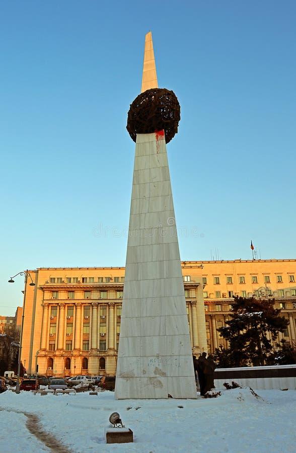 Bucarest, Roumanie - mémorial de renaissance images libres de droits