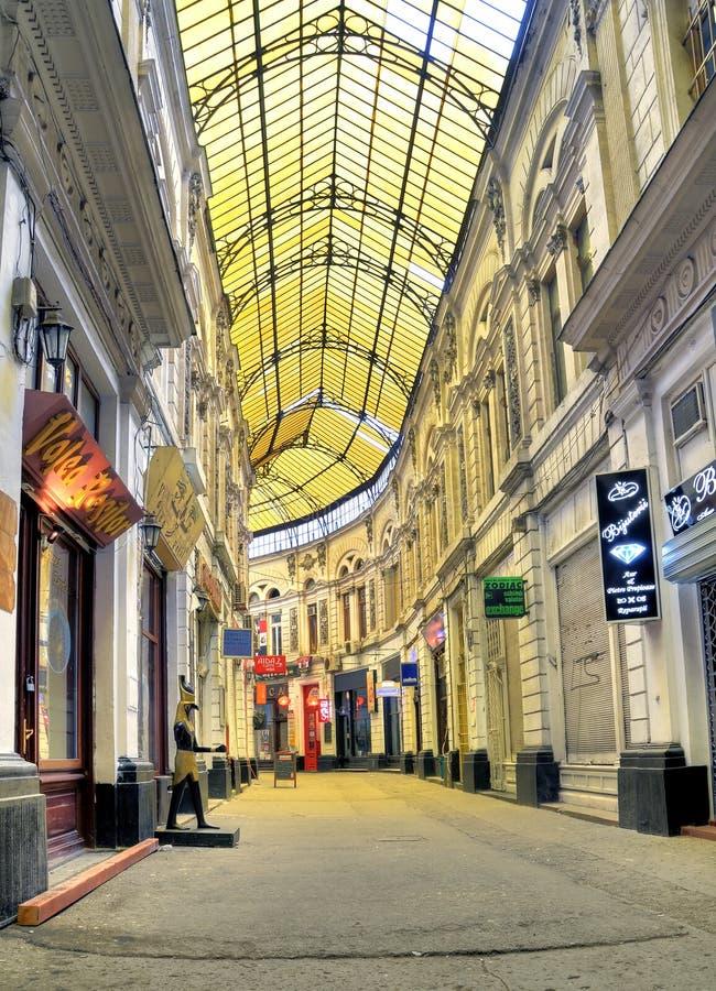 Bucarest - rue couverte de verre photos libres de droits