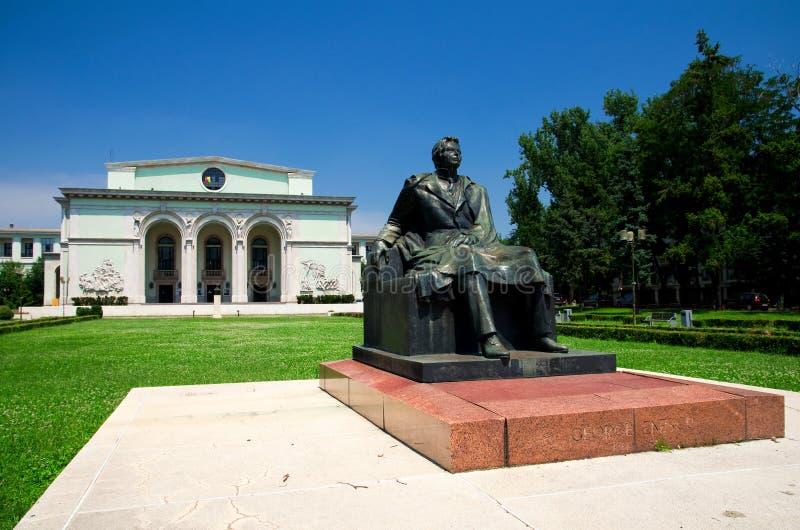 Bucarest - Teatro dell'Opera nazionale rumeno immagini stock
