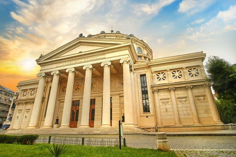 Bucareste Ateneul romano, Romanian Ateneum Bucareste fotografia de stock royalty free