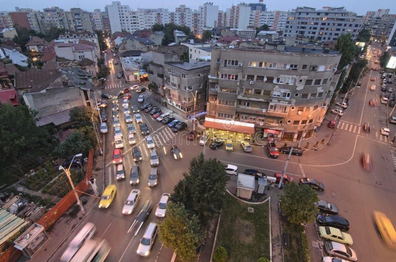 Bucareste - cena da noite foto de stock royalty free