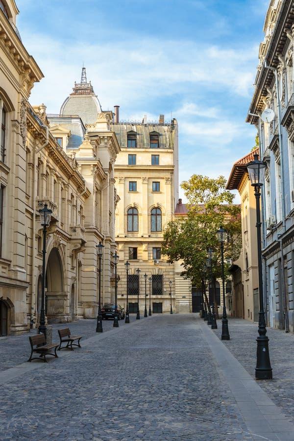 Bucareste center histórica velha, Romania imagens de stock royalty free