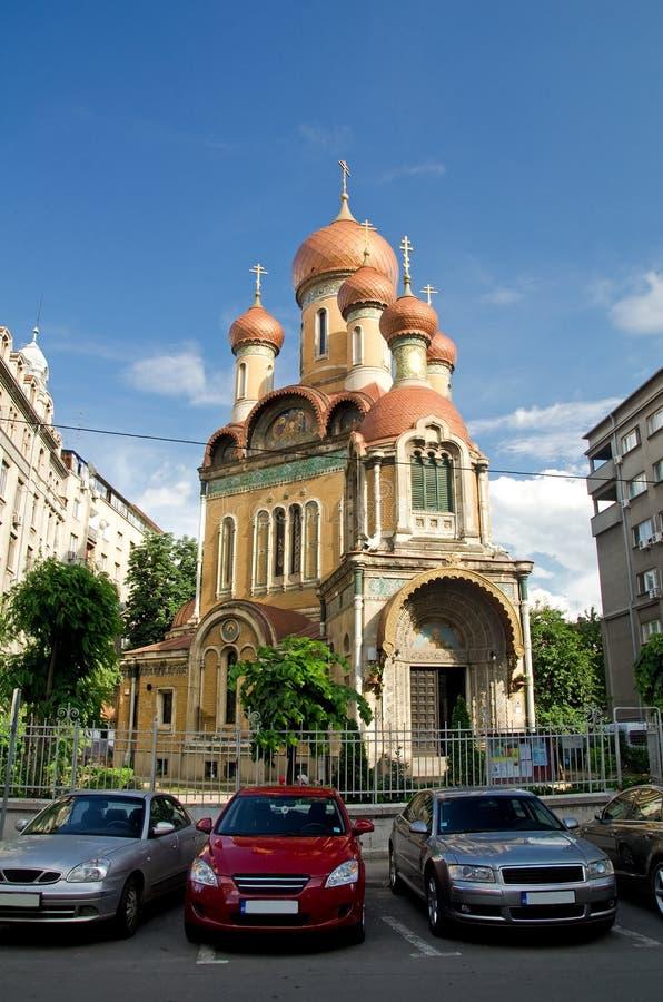 Bucareste - a igreja do russo foto de stock