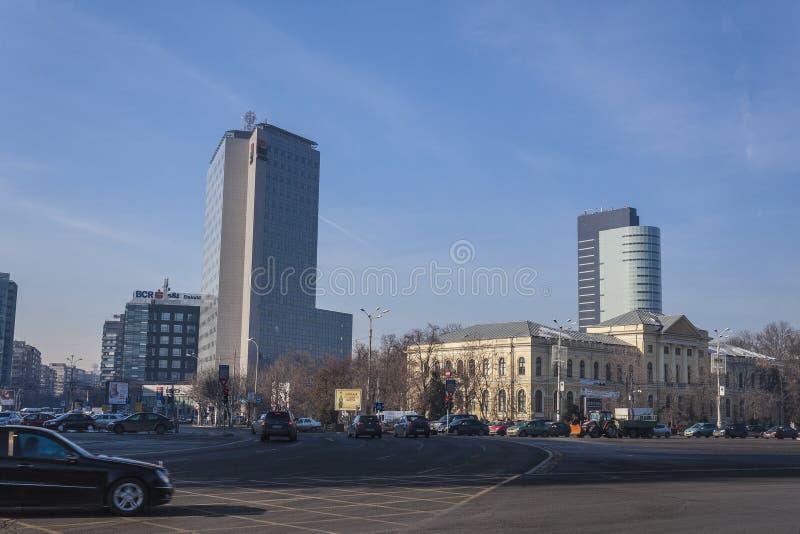 Bucareste moderna imagens de stock