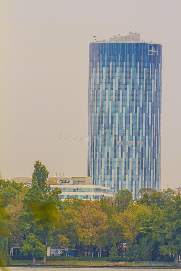 Bucareste moderna imagem de stock