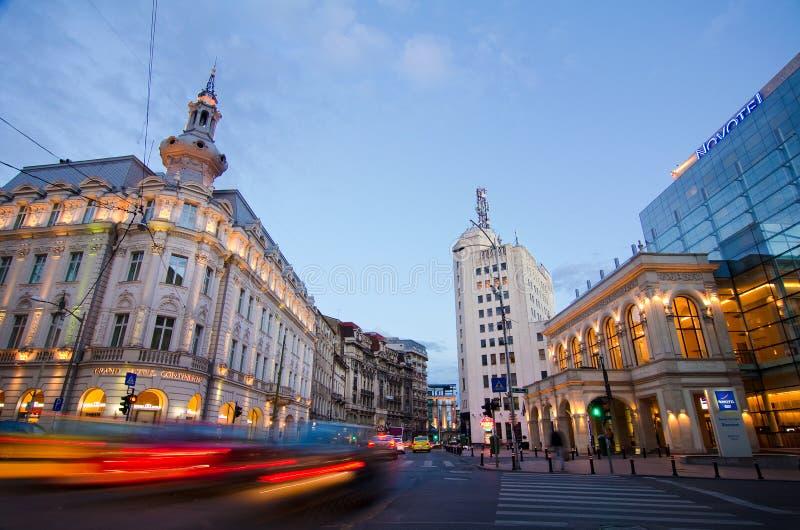 Bucareste no por do sol imagem de stock royalty free