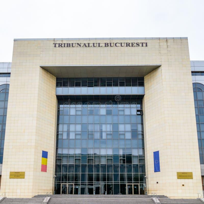 BUCARESTE, ROMÊNIA - 25 DE OUTUBRO DE 2015: O tribunal de justiça de Bucareste, fotografia de stock royalty free