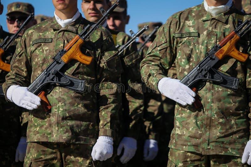 BUCARESTE, ROMÊNIA - 25 de outubro de 2018: Forças especiais romenas s fotos de stock