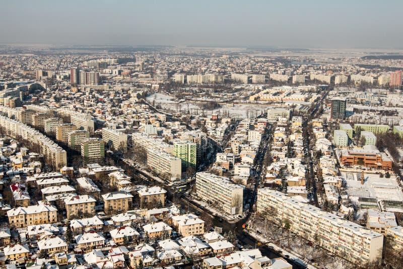Bucareste - vista aérea fotografia de stock