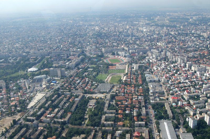 Bucareste, vista aérea imagens de stock royalty free