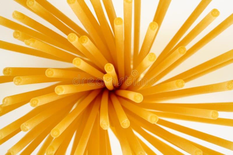 Bucatini pasta. Uncooked bucatini pasta royalty free stock photos