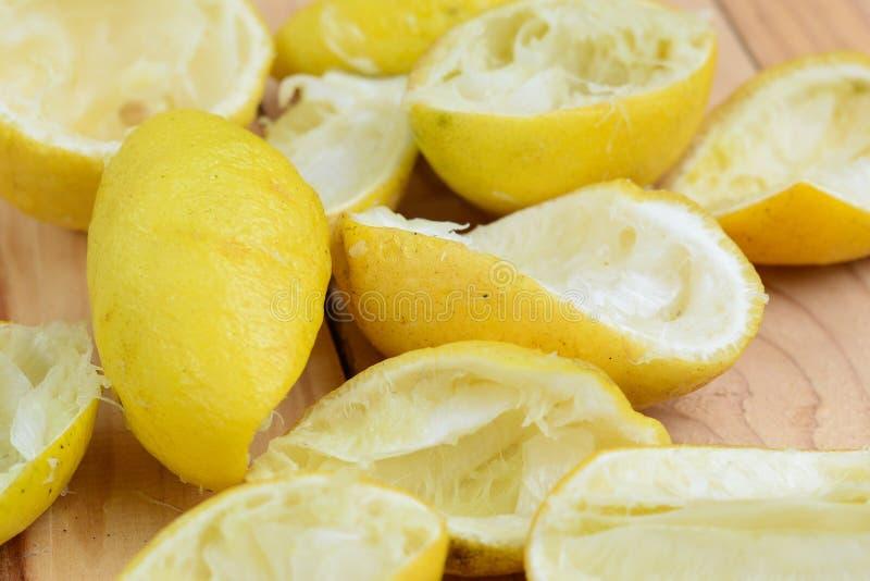 Buccia di limone fotografie stock