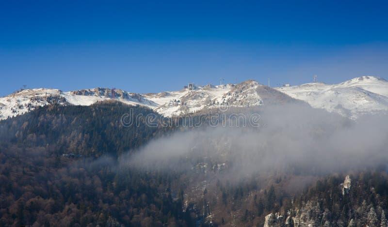 Bucegi berg i vinter royaltyfria foton
