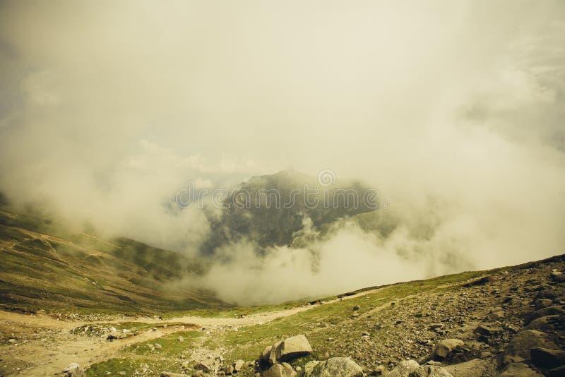 Bucegi-Berge, über den Wolken stockfoto