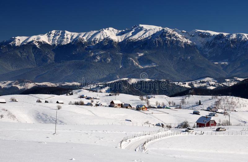 Bucegi Mountains Landscape Panorama In Romania Royalty Free Stock Photography
