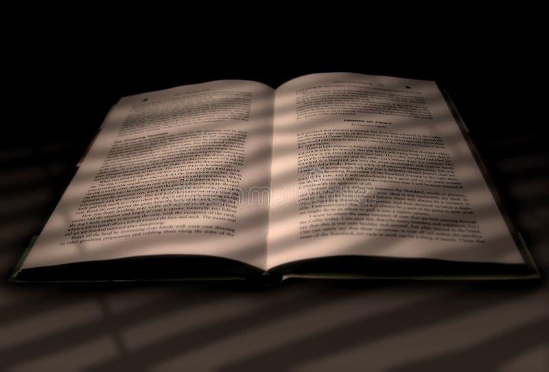 Buch angesichts eines Fensters stockfotos