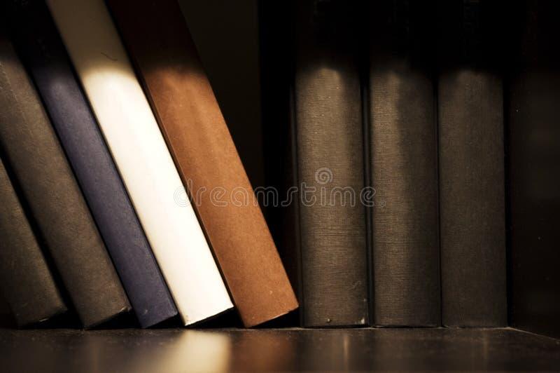 Buch auf Regal lizenzfreies stockbild