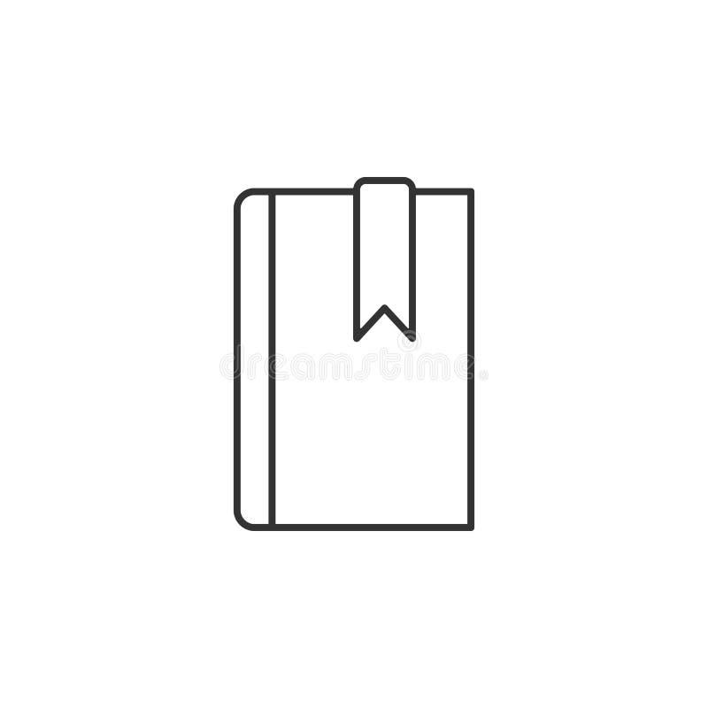 Buch, Bookmarklinie Ikone Einfache, moderne flache Vektorillustration für bewegliche APP-, Website- oder Desktop-APP vektor abbildung